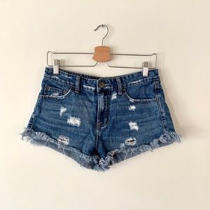 Free People Distressed Shorts
